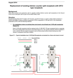flash replacement of existing kitchen counter split receptacle how to wire circuit kitchen gfci split receptacle [ 791 x 1024 Pixel ]
