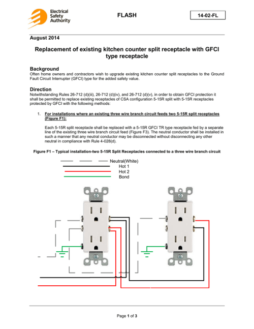small resolution of flash replacement of existing kitchen counter split receptacle how to wire circuit kitchen gfci split receptacle