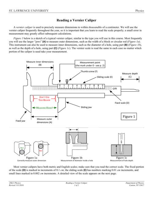 small resolution of sketch diagram of vernier caliper
