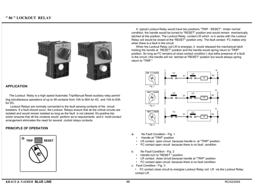 small resolution of 86 lockout relay a typical lockout relay would have two positions trip reset under normal condition the handle would be turned to reset position