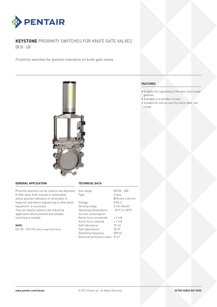 Proximity Switches for Knifegate Valves (English)