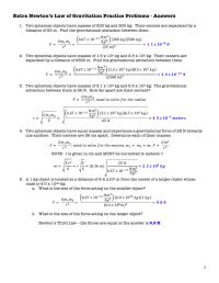 Gravitational Force Worksheet. Worksheets. Tutsstar ...