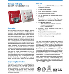 notification appliances mircom fhs 240 select a horn strobe series description mircom s select a strobe horn series is designed to comply with the americans  [ 791 x 1024 Pixel ]