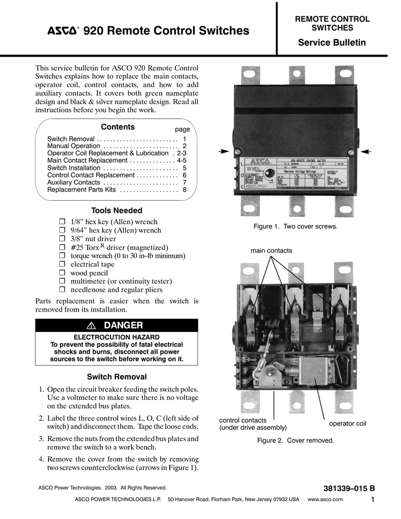 medium resolution of asco 920 remote control switch wiring diagram 45 wiring asco lighting contactors 917 asco 920 rc switch contactor 92033031