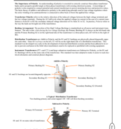the importance of polarity an understanding of polarity is essential to correctly construct three phase transformer banks and to properly parallel single or  [ 791 x 1024 Pixel ]