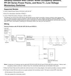vacancy solution with lutron wired occupancy sensors pp lutron occupancy sensor wiring diagram and instructions [ 791 x 1024 Pixel ]