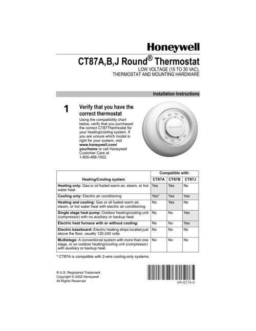 small resolution of  018186416 1 f6d69f695627d2e86069937394c0a0aa honeywell ct33a thermostat wiring diagram wiring diagrams honeywell thermostat models manual at cita