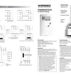 specifications operating voltage maximum load typical wiring schematic thermostats for radiant heating display range setpoint range resolution  [ 1024 x 791 Pixel ]