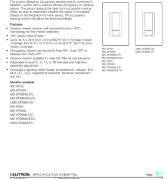 maestro occupancy sensing switch spec 369666c ms ops5m wiring diagram lutron 3 way  [ 770 x 1024 Pixel ]