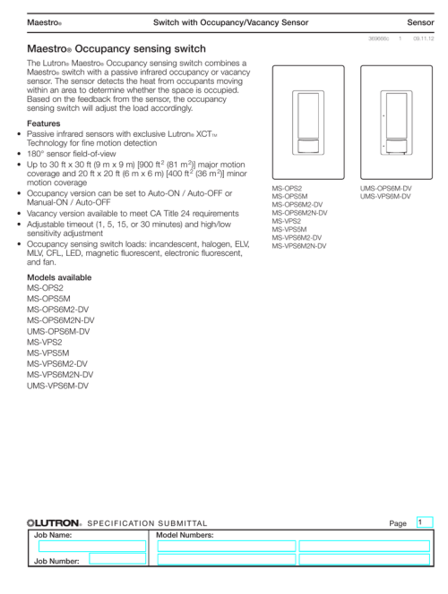 small resolution of maestro occupancy sensing switch spec 369666c ms ops5m wiring diagram lutron 3 way