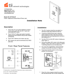 contact tii customer service to authorize return unit may be returned prepaid model 761 2t 761s 2t indoor telephone surface mount phone jack  [ 791 x 1024 Pixel ]