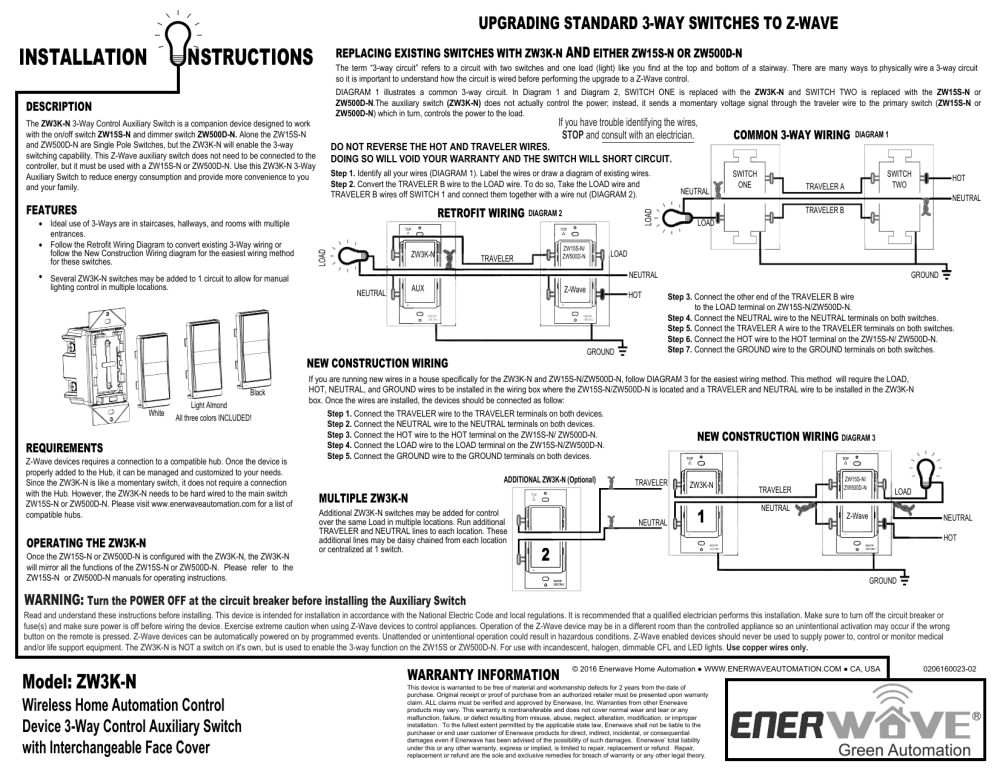 medium resolution of instruction manual enerwave home automationzw15s 3 way wiring diagram 17