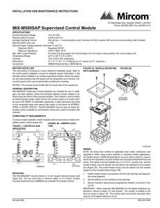 MMX-1(A) MONITOR MODULE, CMX-2(A