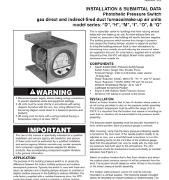 d september 2006 installation submittal data photohelic pressure switch gas direct and indirect fired duct furnace make up air units model series d  [ 791 x 1024 Pixel ]