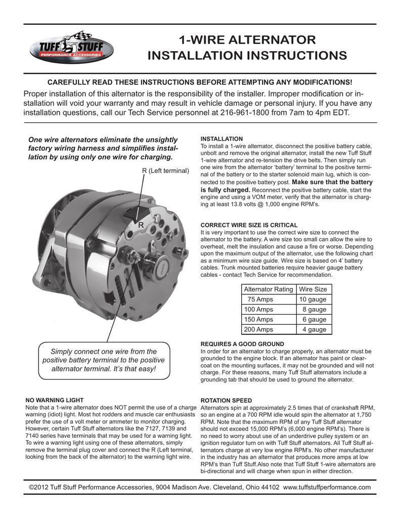 medium resolution of alternator wire harnes wire size