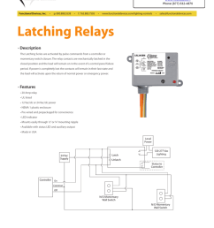 latching relays description the latching series are activated by pulse commands from a controller or momentary switch closure  [ 791 x 1024 Pixel ]