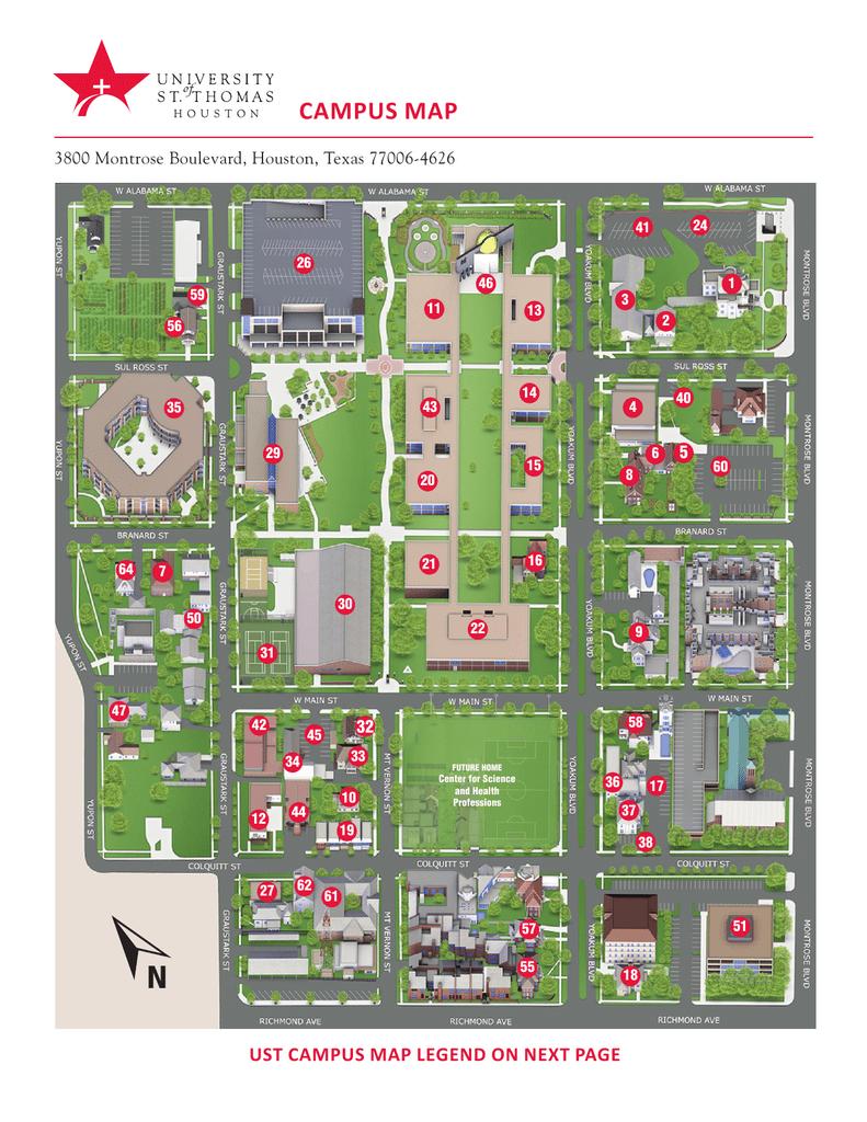 Ust Campus Map : campus, Campus, University, Thomas