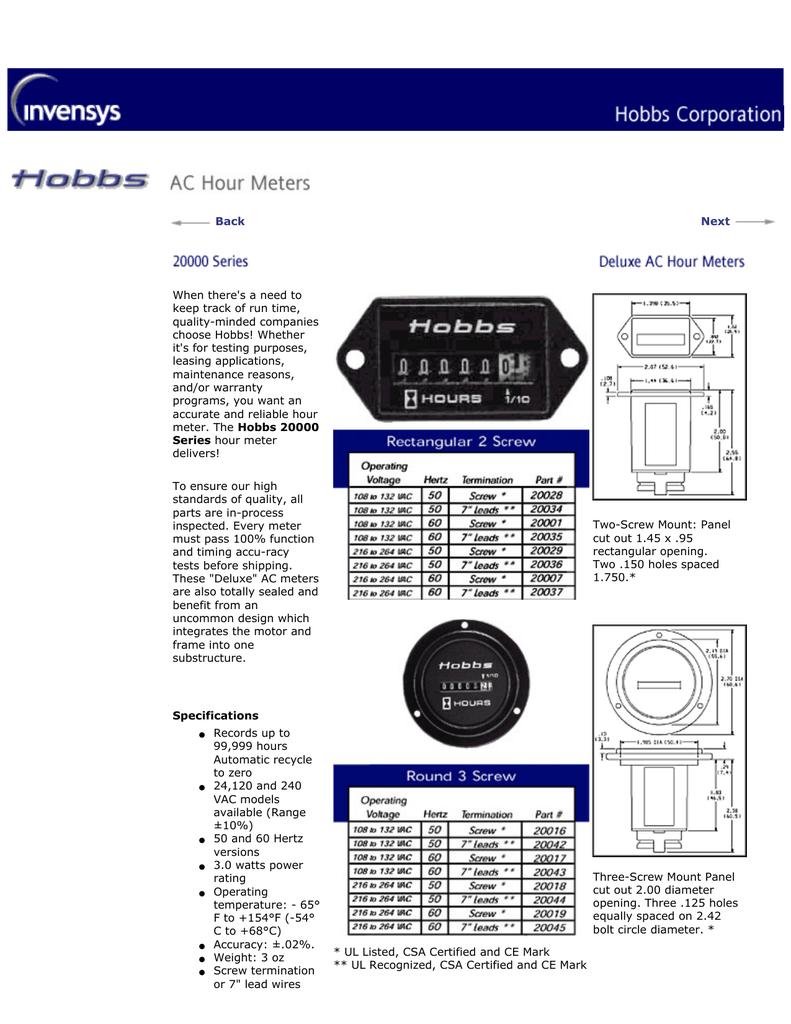 hight resolution of hobb meter wiring diagram