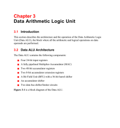 chapter 3 data arithmetic logic unit 3 1 introduction this section describes the architecture and the operation of the data arithmetic logic unit data alu  [ 791 x 1024 Pixel ]