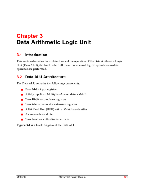 small resolution of chapter 3 data arithmetic logic unit 3 1 introduction this section describes the architecture and the operation of the data arithmetic logic unit data alu