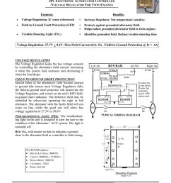 zeftronics r251dr 24volt voltage regulator diagram dual field alternator and electronic voltage regulator [ 791 x 1024 Pixel ]