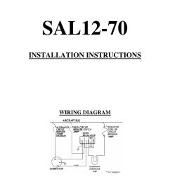 sal12 70 installation instructions wiring diagram warranty plane power ltd warranties its alternators and voltage regulators for a two year period from  [ 791 x 1024 Pixel ]