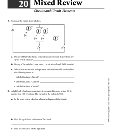 chapter holt physics 20 mixed review circuits and circuit elements 1 consider the circuit shown below a b c d 1 3 4 2  [ 777 x 1024 Pixel ]