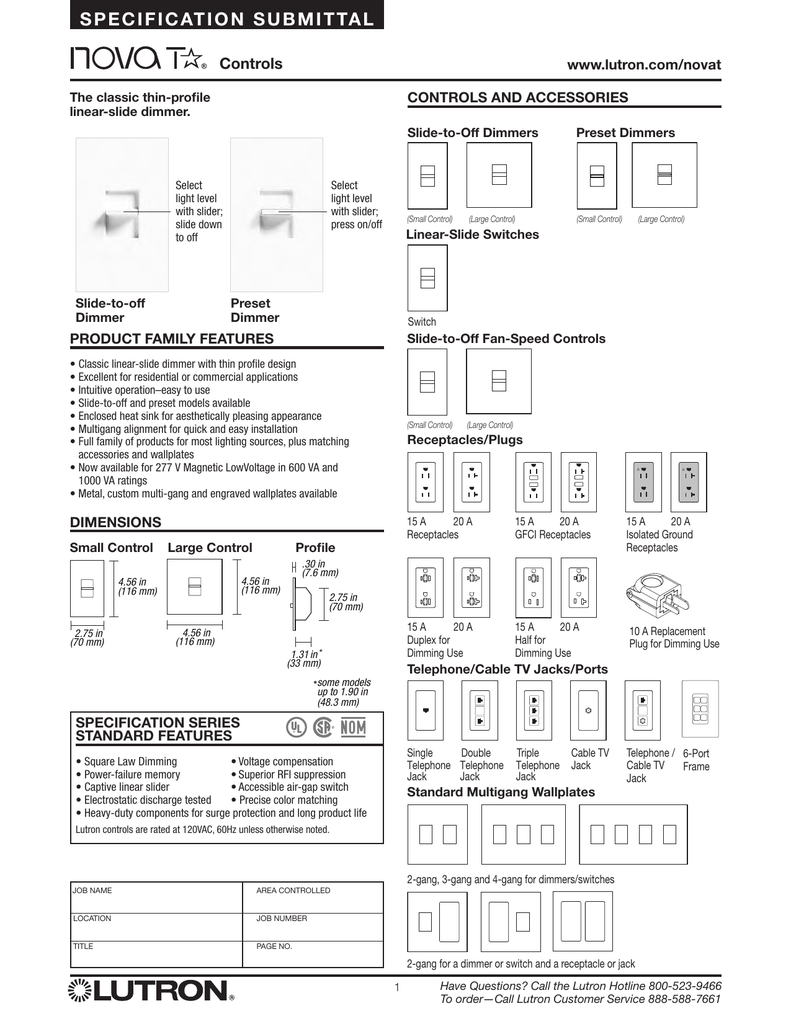 medium resolution of lutron nova t ntftv bl dimmer spec sheetntftv wiring diagram 15
