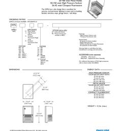 wl 43115 wpg small glass wall pack job name type 50 100 watt metal halide 50 150 watt high pressure sodium 26 42 watt compact fluorescent the wpg has a slim  [ 791 x 1024 Pixel ]