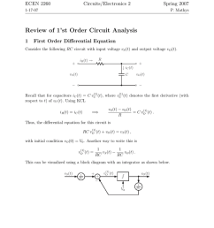 ecen 2260 circuits electronics 2 spring 2007 1 17 07 p mathys review of 1 st order circuit analysis 1 first order differential equation consider the  [ 791 x 1024 Pixel ]