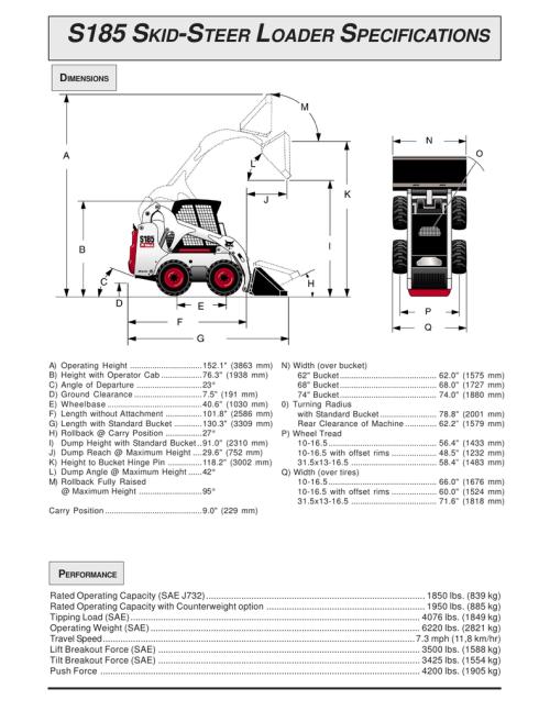 small resolution of s185 bobcat hydraulic diagram