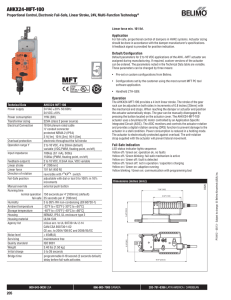 Belimo SVK Series Electric Actuator with UGVL