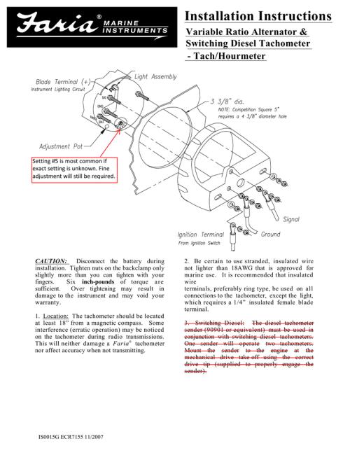 small resolution of faria tach wiring wiring diagrams lolfaria tach wiring wiring library faria tach trigger wiring enchanting faria