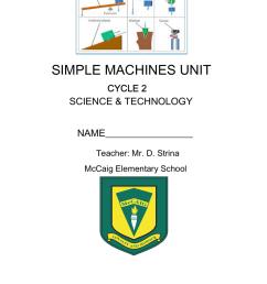 Simple Machines Questions - Sir Wilfrid Laurier School Board [ 1024 x 791 Pixel ]