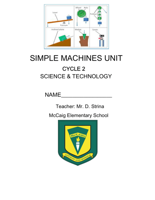small resolution of Simple Machines Questions - Sir Wilfrid Laurier School Board