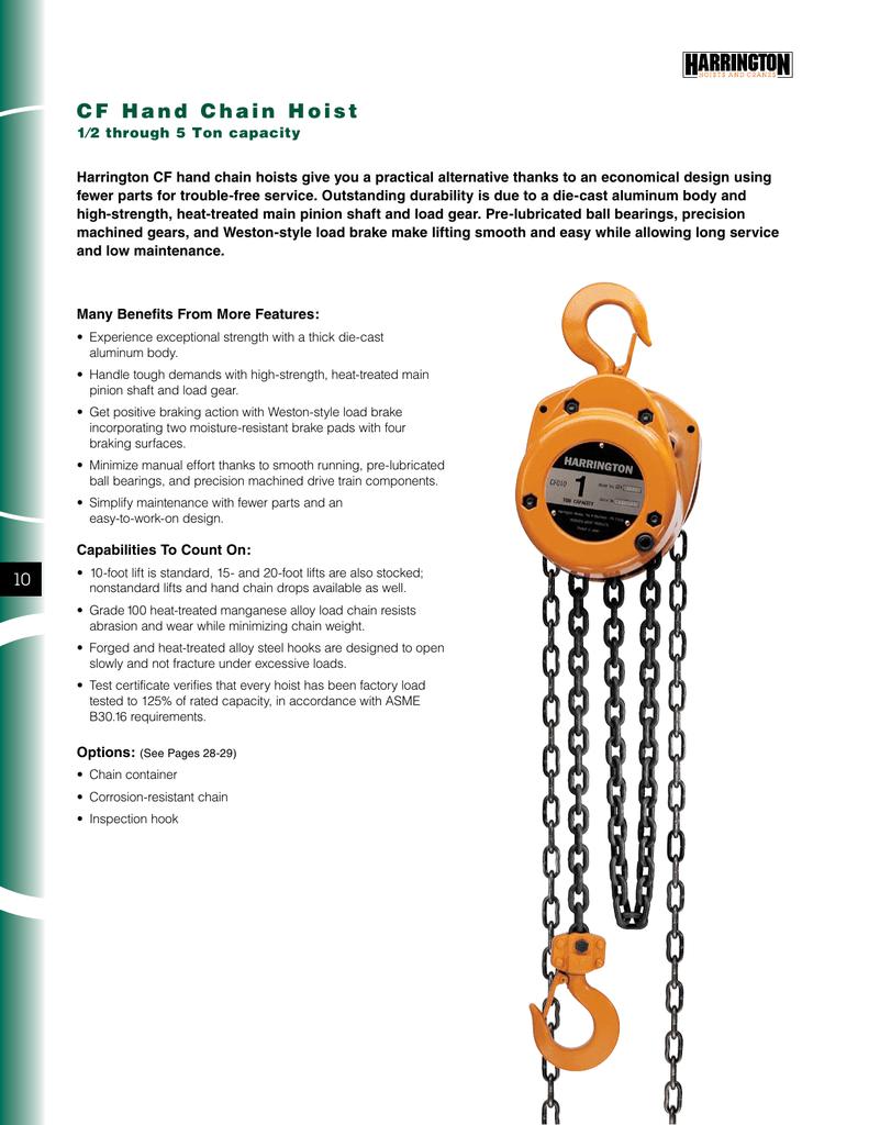 medium resolution of harrington 5 ton electric chain hoist wiring diagram
