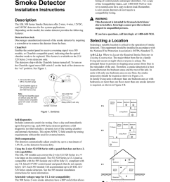 esl 500 series smoke detector installation instructions description the esl 500 series smoke detectors offer 2 wire 4 wire 12vdc and 24vdc detectors for  [ 791 x 1024 Pixel ]