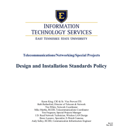 telecommunications networking special projects design and installation standards policy karen king cio sr vice provost its beth rutherford  [ 791 x 1024 Pixel ]