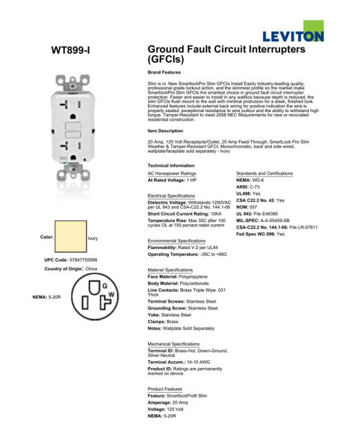 small resolution of wiring diagram for ground fault circuit interrupter receptacle
