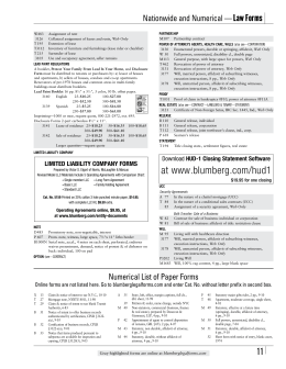 Blumberg Law Forms Catalog