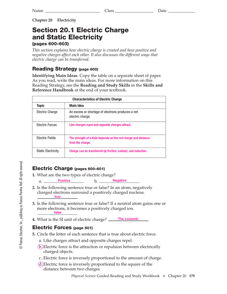hight resolution of Section 20.1 Electric Charge and Static Electricity