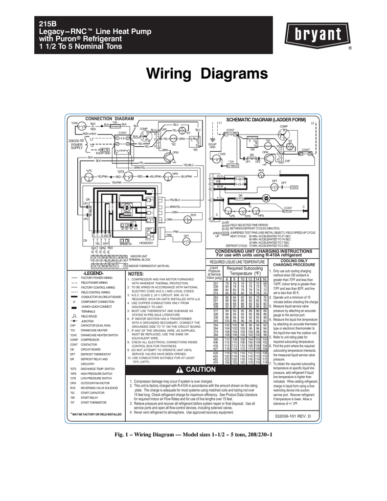 medium resolution of 215b legacy rnct line heat pump with puronr refrigerant 1 1 2 to 5 nominal tons wiring diagrams connection diagram chs blk or red ch blk blk cont red or