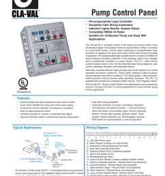model pc 1 pump control panel pre programmed logic controller simplifies field wiring installation indicator lights monitor system status  [ 791 x 1024 Pixel ]