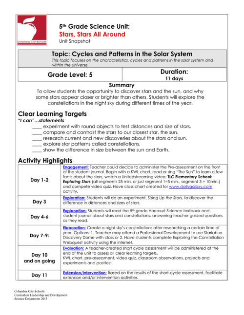 small resolution of 5E Student Lesson Planning Template
