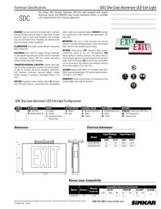 KXTEU Die-Cast Aluminum LED Exit Sign
