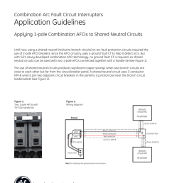 ge electrical distribution combination arc fault circuit interrupters application guidelines applying 1 pole combination afcis to shared neutral circuits  [ 791 x 1024 Pixel ]