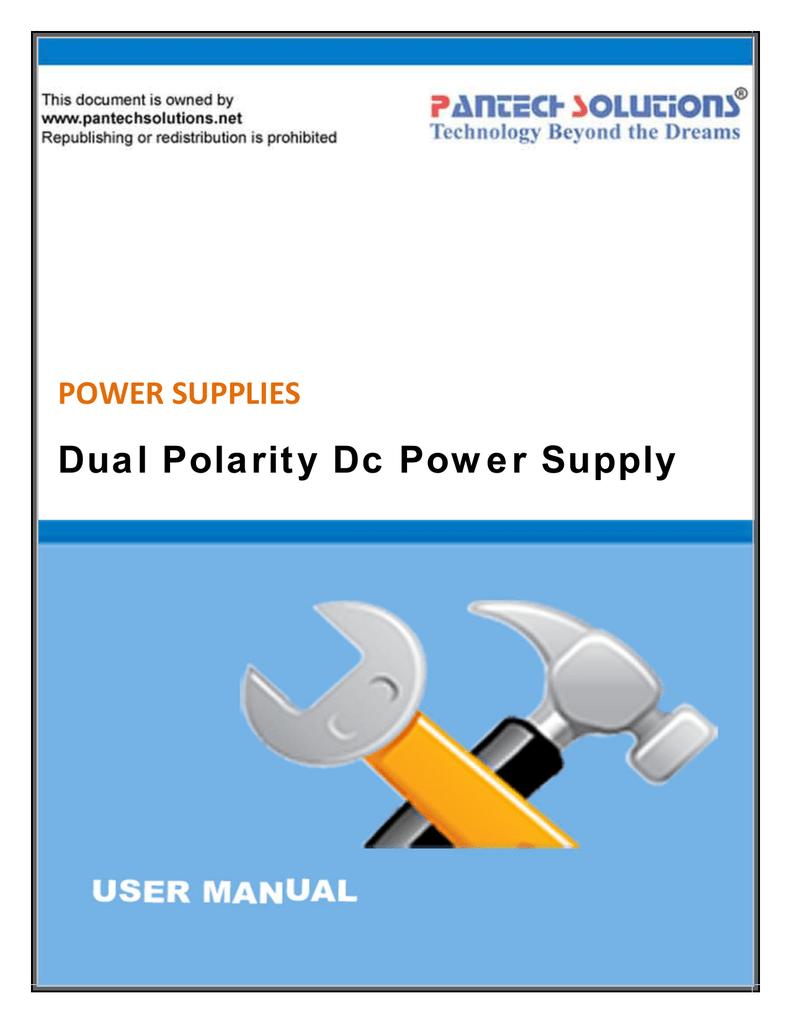 Dual Polarity Power Supply Circuit