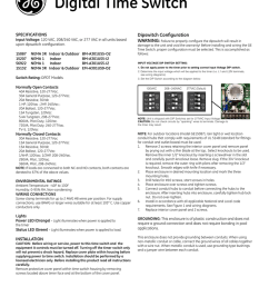 digital time switchdigital time switch specifications input voltage 120 vac 208 240 vac or [ 791 x 1024 Pixel ]