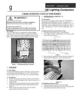 eaton c30cn lighting contactor wiring diagram universal headlight switch xlc installation maintenance information if 1698 series cr460 revision 11 021402