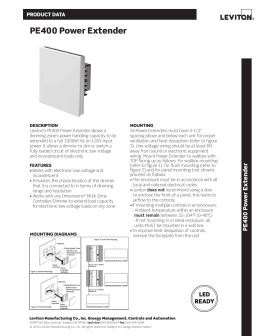 Leviton PE300-D0W Specifications/Data Sheet